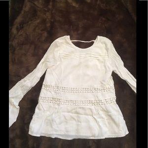 ABERCROMBIE white long sleeved shirt